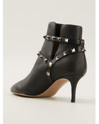 Valentino Rockstud Ankle Boots - Lyst