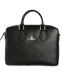 Vivienne Westwood Black Classic Briefcase - Lyst