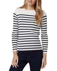 Topshop | Stripe Zip Back Maternity Sweater | Lyst