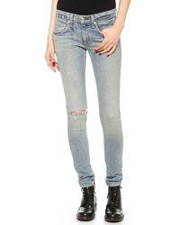 Rag & Bone The Skinny Jeans Water Street - Lyst