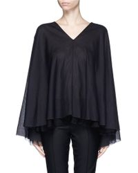 The Row | 'maram' Belted Cotton Voile Top | Lyst