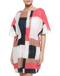 Kate Spade Mykonos Coverup Dress With Pull-Cord Waist - Lyst