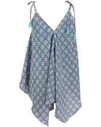 Basta Surf - Sleeveless Double Vneck Asymmetrical Dress - Lyst