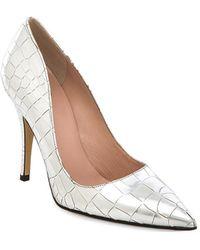 Kate Spade Silver Licorice Heel - Lyst