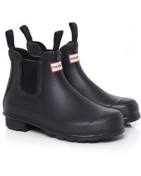 Hunter Org Chelsea Boots - Lyst