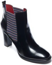 Tommy Hilfiger Polished Leather Bootie - Lyst
