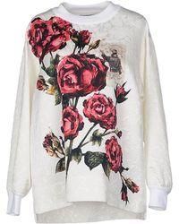 Dolce & Gabbana Sweatshirt red - Lyst