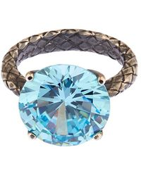Bottega Veneta Cubic Zirconia And Silver Ring - Lyst