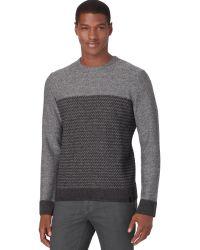 Calvin Klein Gray Jacquard Sweater - Lyst