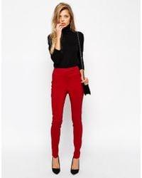 Asos High Waist Pants In Skinny Fit - Lyst
