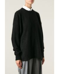 Acne Studios Oversized Wool Mohair Sweater - Lyst