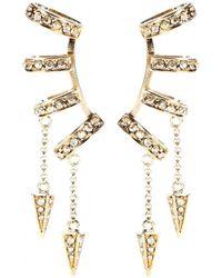 Roberto Cavalli Embellished Ear Cuffs - Lyst