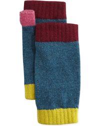 Brora - Cashmere Colorblock Wrist Warmers - Lyst