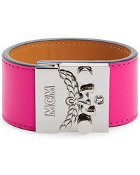 MCM - 'karolina' Push Lock Bracelet - Beetroot Pink - Lyst