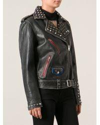 Diesel Studded Biker Jacket - Lyst