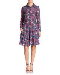 Haute Hippie | Printed Silk Shirtdress | Lyst