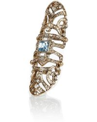 River Island Gold Tone Ornate Hinged Ring - Lyst