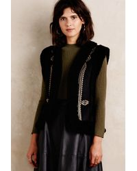 Twelfth Street Cynthia Vincent - Emmi Embroidered Sherpa Vest - Lyst