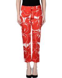 Max Mara Studio Casual Trouser red - Lyst