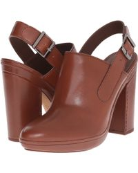 Vince | 'talya' Leather Slingback Clog Mules | Lyst