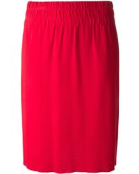 Sonia By Sonia Rykiel Ruffled Midi Skirt - Lyst