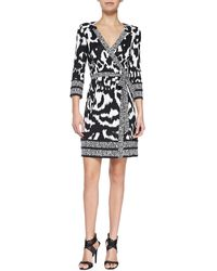 Diane Von Furstenberg Tallulah Printed Silk Wrap Dress - Lyst