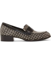 Pierre Balmain Black and White Calf_hair Hondstooth Loafers - Lyst
