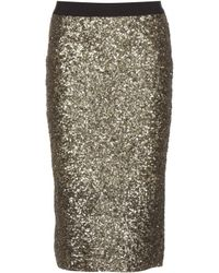 By Malene Birger Helic Sequin Skirt - Lyst
