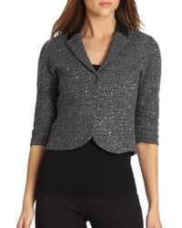 Elie Tahari Reva Sequined Jacket - Lyst