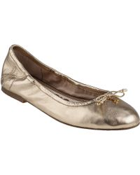 Sam Edelman Felicia Ballet Flat Rich Gold Leather - Lyst