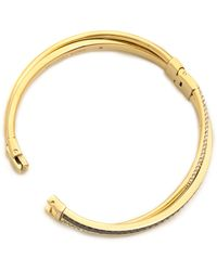 Michael Kors Pave  Baguette Crossover Bracelet   - Lyst