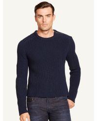 Ralph Lauren Black Label Shoulder-zip Sweater - Lyst