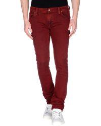 Nudie Jeans Denim Trousers purple - Lyst