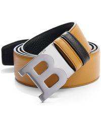 Bally B Buckle Leather Belt - Lyst