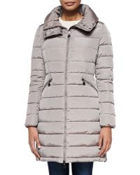Moncler Flamme Mid-Length Quilted Jacket
