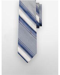 CALVIN KLEIN 205W39NYC - Striped Silk And Linen Tie - Lyst