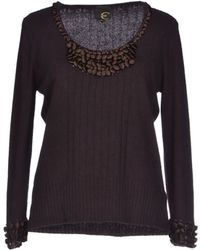 Just Cavalli Purple Jumper - Lyst