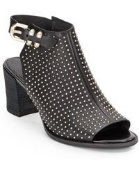 Kenneth Cole Studded Opentoe Leather Mules - Lyst