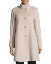 Fleurette - Stand-collar Wool Coat - Lyst