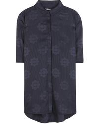 Mulberry Satin Jacquard Shirt - Lyst