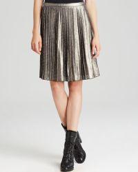 Tory Burch Audra Metallic Skirt - Lyst