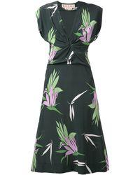 Marni Print Gathered Dress - Lyst