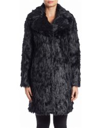 Eliza J - Faux Fur Wing Collar Coat - Lyst
