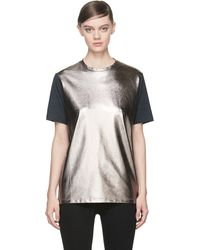 Diesel Black Gold Pewter and Grey Tamal T-Shirt - Lyst