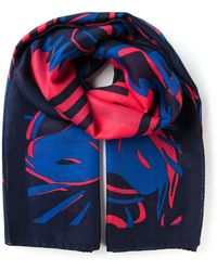 Kenzo Multicolor Printed Scarf - Lyst
