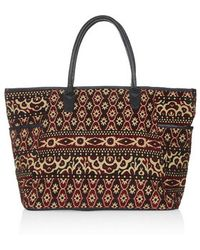 Topshop Tapestry Luggage Bag - Lyst