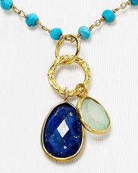 "Argento Vivo - Rondelle Charm Necklace, 16"" - Lyst"