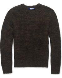 Junya Watanabe Open-knit Mohair-blend Sweater - Lyst