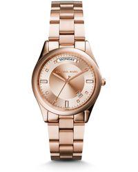 Michael Kors Colette Rose Gold-Tone Watch - Lyst