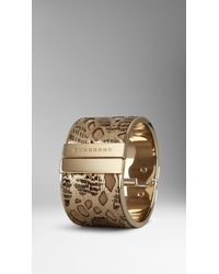 Burberry Metallic Leather Lace Cuff - Lyst
